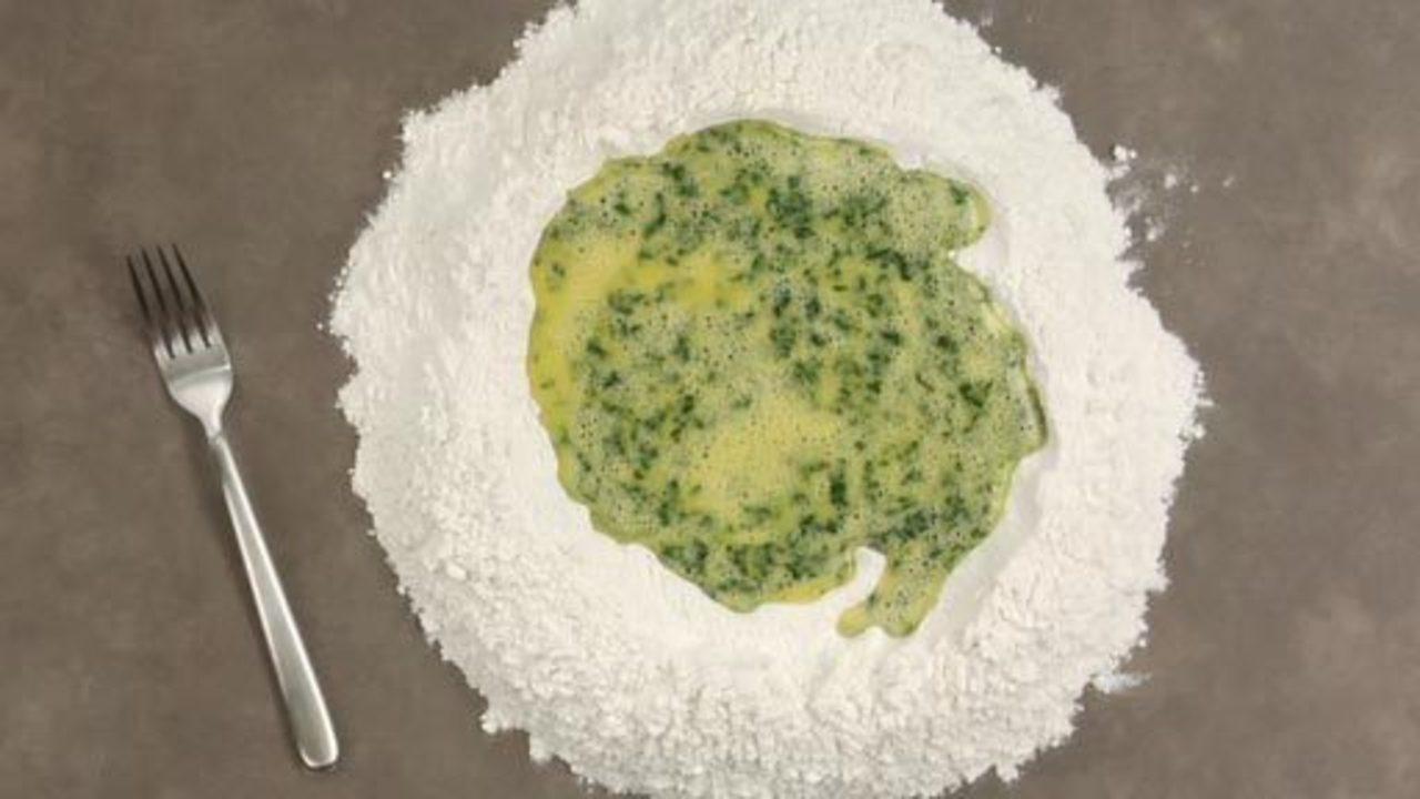 Making the Green Pasta Dough